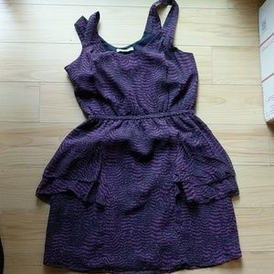 Madewell silk Eliot purple print dress